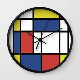 Mondrian 3 #art #mondrian Wall Clock