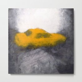 TAXI seen through a foggy window Metal Print