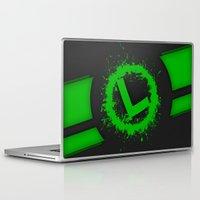 luigi Laptop & iPad Skins featuring Luigi Splat by Donkey Inferno