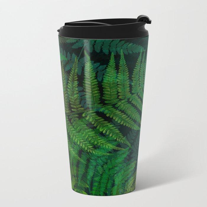 Forest Fern Metal Travel Mug
