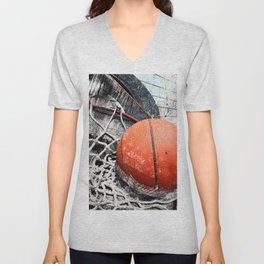 Modern Basketball Art 8 Unisex V-Neck