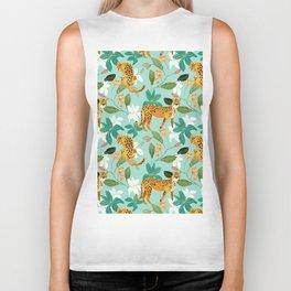Cheetah Jungle #illustration #pattern Biker Tank