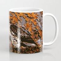 hawk Mugs featuring Cooper's Hawk by Judy Palkimas