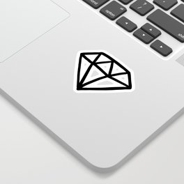 Black and white version of diamond Sticker
