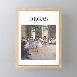 Degas - Ballet Rehearsal Framed Mini Art Print