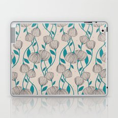 Blue Stem Flowers Laptop & iPad Skin
