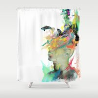 orca Shower Curtains featuring Orca Magic by Archan Nair
