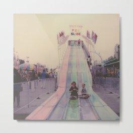 State Fair Fun Slide Metal Print