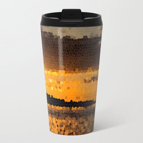 Autumn Sunset Metal Travel Mug