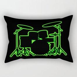 Neon Drum Kit Rectangular Pillow