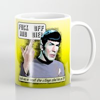 spock Mugs featuring Spock.... by PsychoBudgie