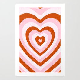 Heart on Heart Art Print
