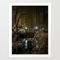 Bridge at Midnight Art Print