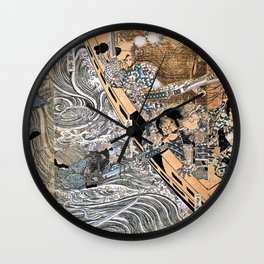 Kuniyoshi Utagawa, The ghost of Taira Tomomori, Daimotsu bay Wall Clock