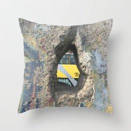 Through the Berlin Wall Throw Pillow