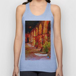 Mission San Juan Capistrano California Abstract Unisex Tank Top