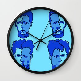 Where is my mind? Blue Wall Clock