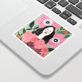 Among Flowers Sticker