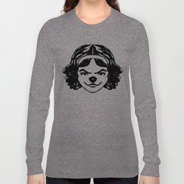 spunky mod cat 1 Long Sleeve T-shirt