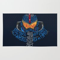 pacific rim Area & Throw Rugs featuring Pacific Rim by Charleighkat