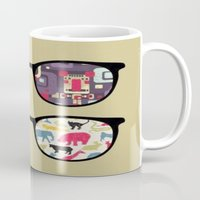 old school Mugs featuring Old School  by Lyre Aloise