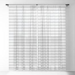 Simple stripes grey. Marine theme Sheer Curtain