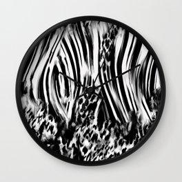 Love Zebra Wall Clock