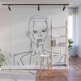 Grace Jones Smoking Wall Mural