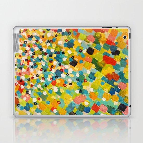 SWEPT AWAY 3 - Fresh Green Colorful Rainbow Ocean Waves Mermaid Splash Abstract Acrylic Painting Laptop & iPad Skin