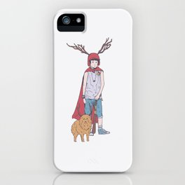 The Boy And His Dog In Apocalyptic Suburb - It's Only Life iPhone Case