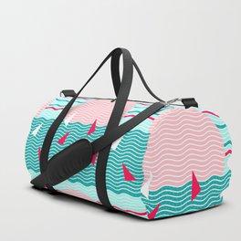 Hello Ocean Pink Sails Duffle Bag