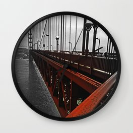Crossing the Golden Gate Wall Clock