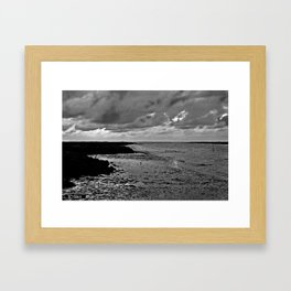 River to the open Danish Sea Framed Art Print