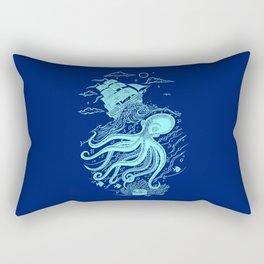 Giant Octopus and Sailing Ship Rectangular Pillow