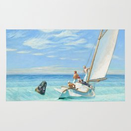 Ground Swell OIl Painting by Edward Hopper Rug