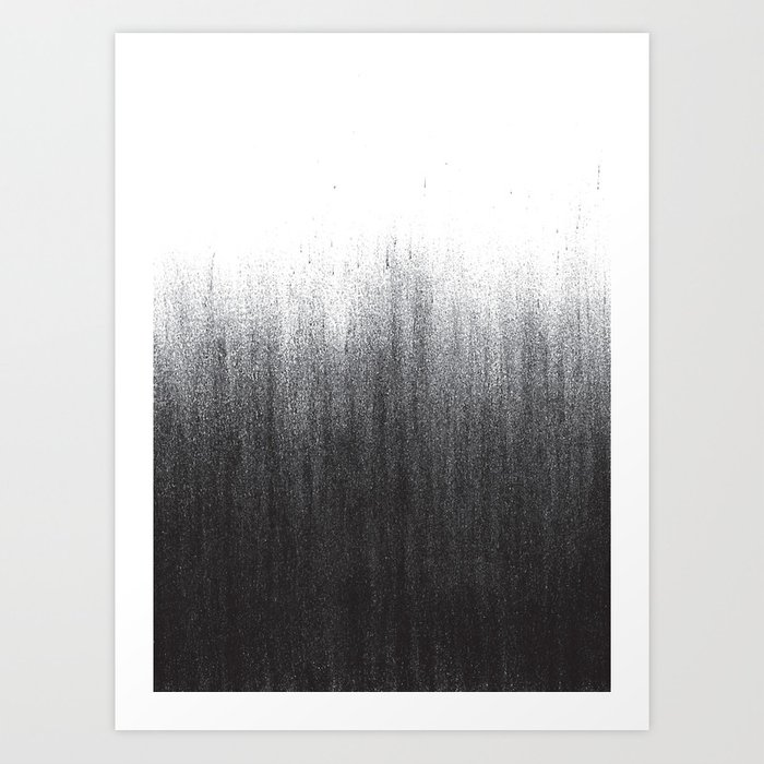 Charcoal Ombré Kunstdrucke