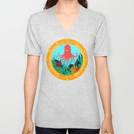 I'd Like To Be Under The Sea In That Garden With That Octopus Unisex V-Neck