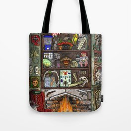 Creepy Cabinet of Curiosities Tote Bag