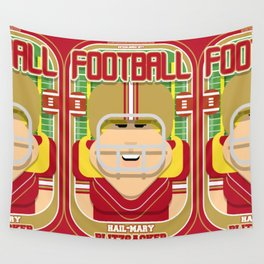 American Football Red and Gold - Hail-Mary Blitzsacker - Hazel version Wall Tapestry