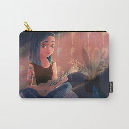 TATTOO GIRL PLAYING UKULELE Carry-All Pouch
