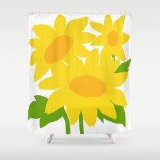 Yellow Green Good Cheer Shower Curtain