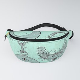 US Patent Office Submission for Handcuffs - Circa 1880 Fanny Pack