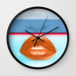 Madonna Modern Life - Glitch Pop Color Portrait Wall Clock