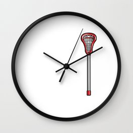 Lacrosse Stick Funny Graphic T-shirt Wall Clock