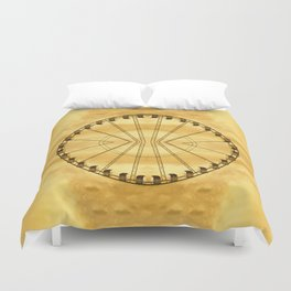 Carnival Cryptography Duvet Cover