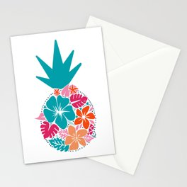 Bright Pineapple Flower Stationery Cards