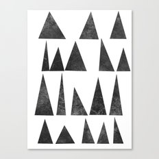 Mountains and Triangles Canvas Print