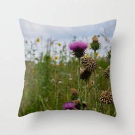 Sprouting Flowers Throw Pillow