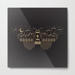 Moth to Flame Metal Print