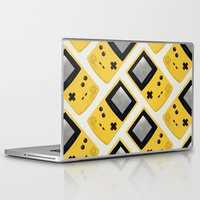 gameboy Laptop & iPad Skins featuring Gameboy Color: Yellow (Pattern) by Zeke Tucker